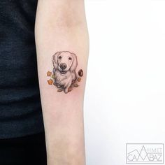20 Minimalist Cat Tattoos for the Subtle Cat-Lover - Good Doggy tattoo by Ahmet Cambaz - Mini Tattoos, Small Dog Tattoos, Boys With Tattoos, Tattoos For Dog Lovers, Body Art Tattoos, Sleeve Tattoos, Tattoos For Women, Cat Tattoos, Tattoo Small