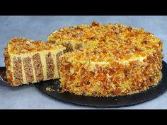 Cu acest tort vei face o adevarata senzatie! Imi vei multumi dupa ce il vei incerca! - YouTube Baking Recipes, Cake Recipes, Dessert Recipes, Walnut Cake, Poke Cakes, Cake Toppings, Coffee Cake, Let Them Eat Cake, No Bake Cake