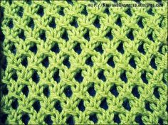 The Irish Mesh Stitch is a simple knitting stitch and would look great on almost any knitted project