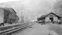 Site of the Battle of Matewan, as it appeared in 1920.