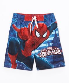 Love this Ultimate Spider-Man Swim Trunks - Boys by Spiderman on #zulily! #zulilyfinds
