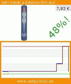 SeKi mando a distancia Slim azul (Accesorio). Baja 48%! Precio actual 7,82 €, el precio anterior fue de 14,98 €. https://www.adquisitio.es/seki/mando-distancia-slim-azul