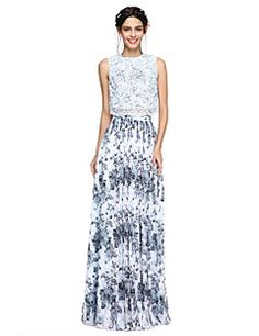 A-Line Jewel Neck Floor Length Chiffon Corded Lace Prom Dress with Pleats by TS Couture® Cheap Prom Dresses Online, Lace Bridesmaid Dresses, Wedding Events, Weddings, Ideias Fashion, Couture, Formal Dresses, Wedding Outfits, Gatsby