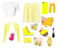 """Yellow"" by avablue3 on Polyvore featuring Boohoo, Rosetta Getty, WearAll, CÉLINE, Casetify, NOVICA, Sweet & Co., Boum and MAC Cosmetics"