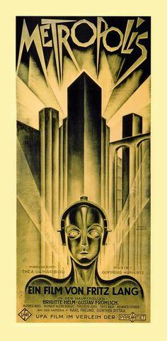 Metropolis film poster (created by art deco artist Heinz Schulz-Neudamm)