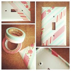 Cute DIY Room Decor Ideas for Teens - DIY Bedroom Projects for Teenagers - Washi Tape Light Switch Craft