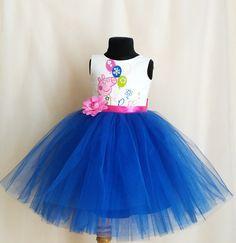 Navy Blue Peppa Pig Birthday Dress Peppa Pig от SugarShopDress