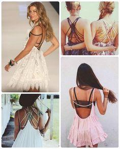 Strappy bra com vestido