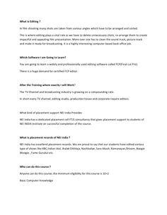 What is editing by NEI India by Pratiksha Kanavaje via slideshare