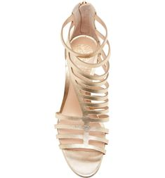 VINCE CAMUTO Petronia Asymmetrical Cage Sandal, Alternate, color, GOLD LEATHER Caged Sandals, Asymmetrical Design, Shoe Show, Gold Leather, Vince Camuto, Take That, Nordstrom, Shoes, Color