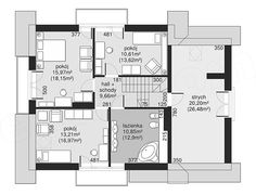 Projekt Dom przy Cyprysowej 14 K2 125,87 m2 - koszt budowy - EXTRADOM Design Case, Floor Plans, Exterior, House Design, Model, Two Story Houses, Home Plans, American Houses, Nice Houses