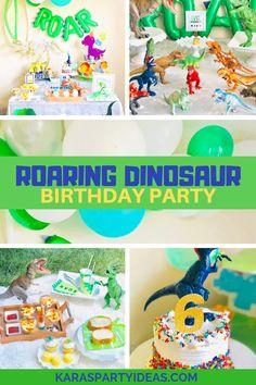 Kara's Party Ideas Roaring Dinosaur Birthday Party | Kara's Party Ideas
