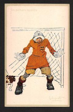 PLINIO CODOGNATO CARTOLINA ORIGINALE UMORISTICA ANNI 20 SPORT CALCIO FOOTBALL 2 | eBay