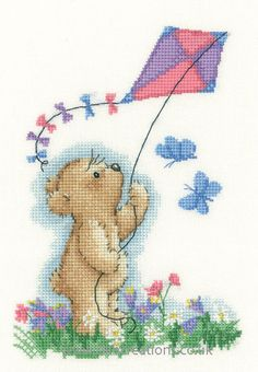 Image result for cross stitch kite