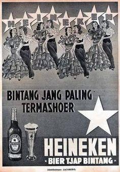 Indonesian Old Commercials: HEINEKEN -BIER TJAP BINTANG- (Beer)
