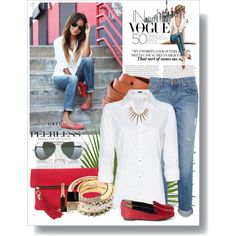 Restyle this adorable outfit with the CAbi Colette Blouse and Ruby Jeans!  Throw on a pop of poppy (our simple cami or cardi perhaps), some gold accessories (metal of the season), leopard print pumps or flats and away you go looking oh so chic!