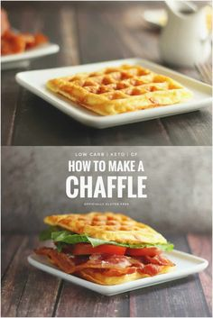 Keto Egg and Cheese Chaffle | Easy Waffle Recipe | Officially Gluten Free