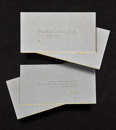 """""""Blind deboss with golden foil (for the mirrored ligature and edges) on 1,5mm gray cardboard."""""""