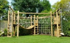 JC Gardens and Climbing Frames custom build amazing bespoke wooden climbing frames, swings, nests and other Products from sustainable British Wood. UK Nationwide and Europe Kids Backyard Playground, Backyard Trampoline, Natural Playground, Backyard For Kids, Backyard Gym, Backyard Projects, Outdoor Projects, Backyard Obstacle Course, Outdoor Fun