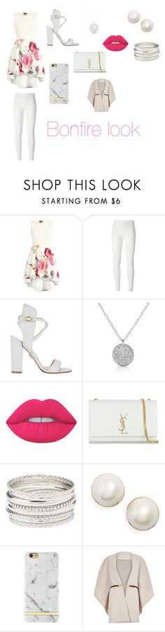 """""""Bonfire look"""" by minions4ever123 on Polyvore featuring Rick Owens Lilies, Paul Andrew, Lime Crime, Yves Saint Laurent, Charlotte Russe, Kate Spade and River Island"""
