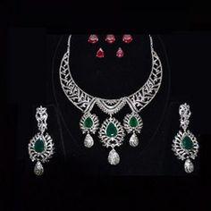 Antique Polki Jewellery Tanishq | Heavy Diamond Necklace Sets