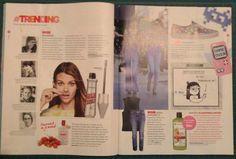 Deel 2 analyse - Magazine Flair: In dit magazine staan veel middelgrote prentjes met daartussen blokjes tekst over het thema.