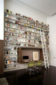 I've always wanted a bookshelf with a sliding ladder.