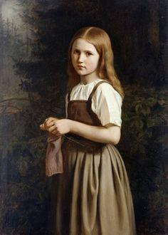 Muchacha que hace punto, 1854 - Minna Heeren