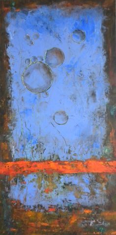 Alignment by Doris Vasek Oil and Cold wax mixed media on Ampersand