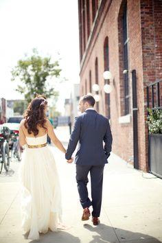 Brooklyn Bridge Park Wedding  Read more - http://www.stylemepretty.com/2014/01/15/brooklyn-bridge-park-wedding/