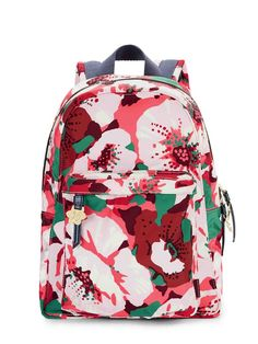 41631b66c9 Pink and red floral zip backpack - backpacks - bags   purses - women ...