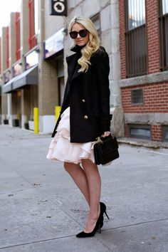 What to Wear on Valentine's Day: A flirty ruffle skirt, a la Atlantic Pacific blogger Blair Eadie