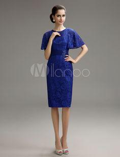 Vestito di pizzo blu cell