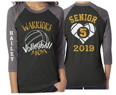 Excited to share this item from my #etsy shop: Glitter Volleyball Shirt   Senior Volleyball Mom Shirt   Customized Volleyball Shirt Mom, Stepmom, Grandma, Aunt, Sister