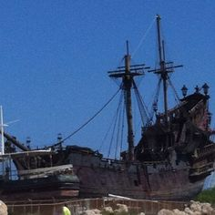 "The ""Black Pearl"" dry docked in ewa beach"