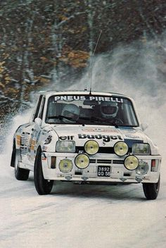 ra Dany Snobeck - Denise Emmanuelli-Renault 5 Tour de Corse-Rally Monte Carlo 1986