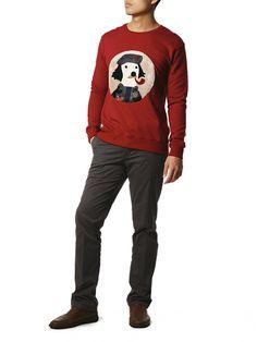 b5b4ac68e6 Military Red Sweater. Red SweatersKorean StyleKorean FashionBranding ...