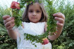 Flower Girl with her head piece.