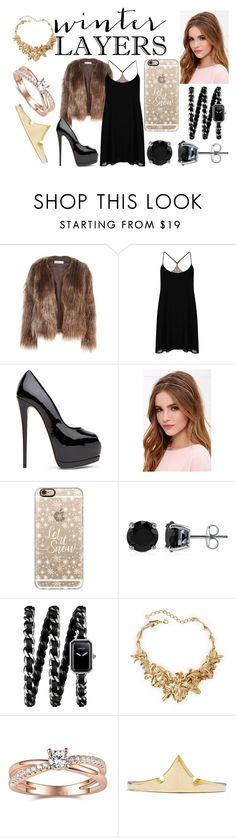 """Winter Layers: Slip Dress"" by marianela2002 on Polyvore featuring moda, Related, Oh My Love, Lulu*s, Casetify, BERRICLE, Chanel, Oscar de la Renta, women's clothing y women's fashion"
