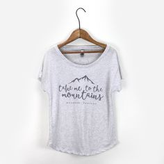 show your love of the Montana Mountains with this relaxed fit graphic tee from Heyday's exclusive collection. hand screenprinted in bozeman, mt. materials + care 50% polyester, 25% cotton, 25% rayon m