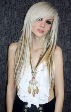 low lights medium length platinum hair - Google Search