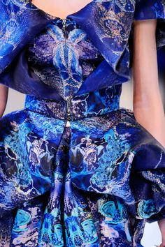 Details on a dress by Alexander McQueen, Spring 2010