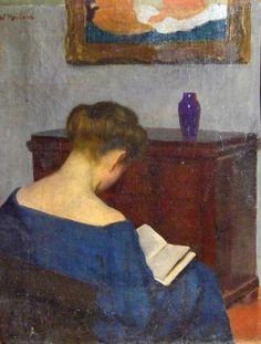 Lesende Frau. Willi Maillard (German, 1879-1945).Maillard...