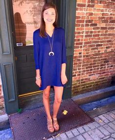 """""""Never Have I Navy"""" perfect to take into fall! Pair with colored denim of leggings!"""