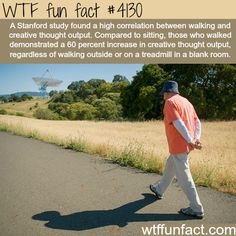 Walking and creative thought -  WTF fun facts