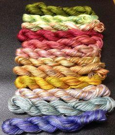 DESTASH : Overdyed Embroidery Thread