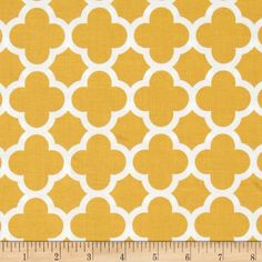 Riley Blake Medium Quatrefoil Mustard from @fabricdotcom  Designed by RBD Designers for Riley Blake, this cotton print is perfect for quilting, apparel and home decor accents.  Colors include white and mustard yellow.