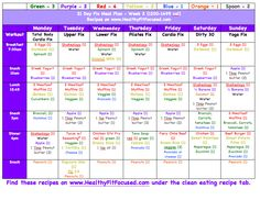 21 Day Fix - Week 1 Women's Update and Week 2 Meal Plan