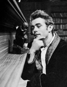 """James Dean photographed by Roy Schatt on the set of """"The Thief"""", 1955. by…"""