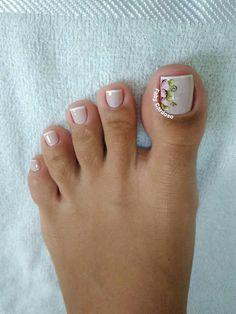 Cute Toe Nails, Cute Nail Art, Easy Nail Art, Pretty Nails, Pedicure Designs, Toe Nail Designs, Toe Nail Color, Cute Pedicures, Vacation Nails